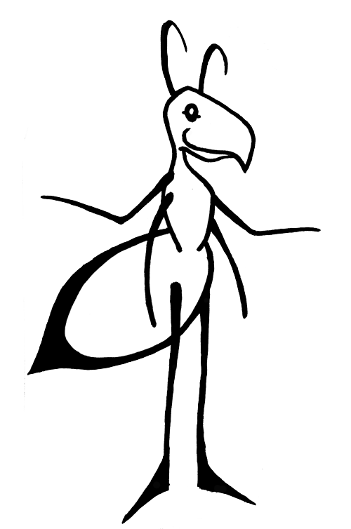 bipedal anthropomorphic ant image standing on two legs smiling